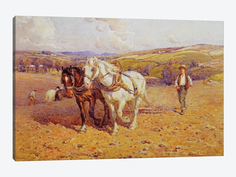 Ploughing by Joseph Harold Swanwick 1-piece Canvas Print