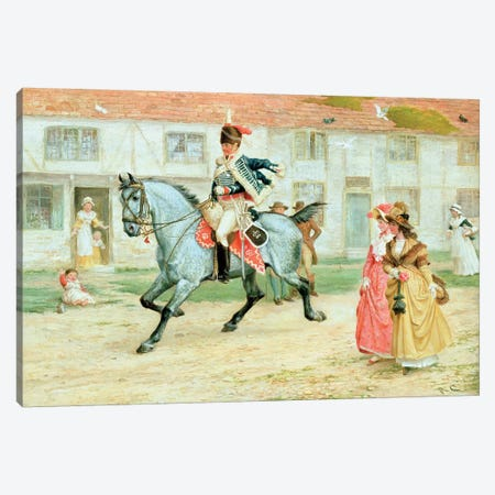 The Young Subaltern Canvas Print #BMN368} by Richard Cattermole Art Print