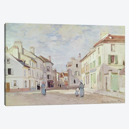Rue de la Chaussee at Argenteuil  Canvas Print #BMN3690} by Claude Monet Canvas Artwork
