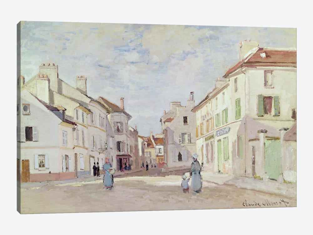 Rue de la Chaussee at Argenteuil  by Claude Monet 1-piece Canvas Art