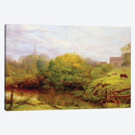 A view of Bredon  Canvas Print #BMN3691} by Henry Key Canvas Artwork