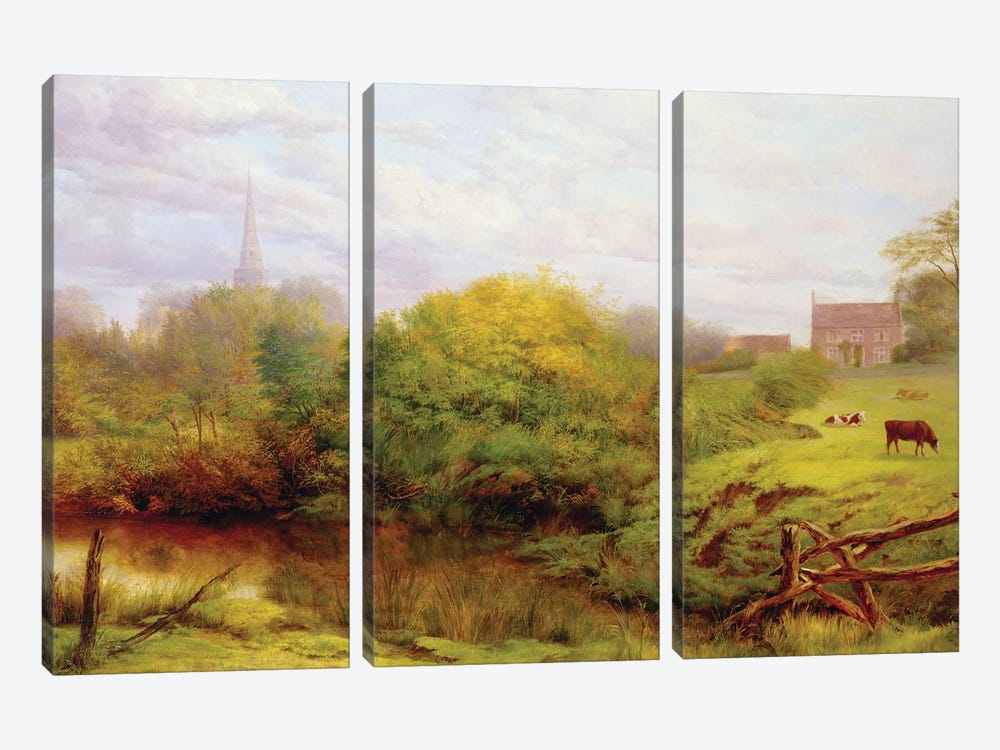 A view of Bredon  by Henry Key 3-piece Canvas Print