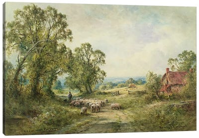 A Lane Near Pulborough  Canvas Art Print