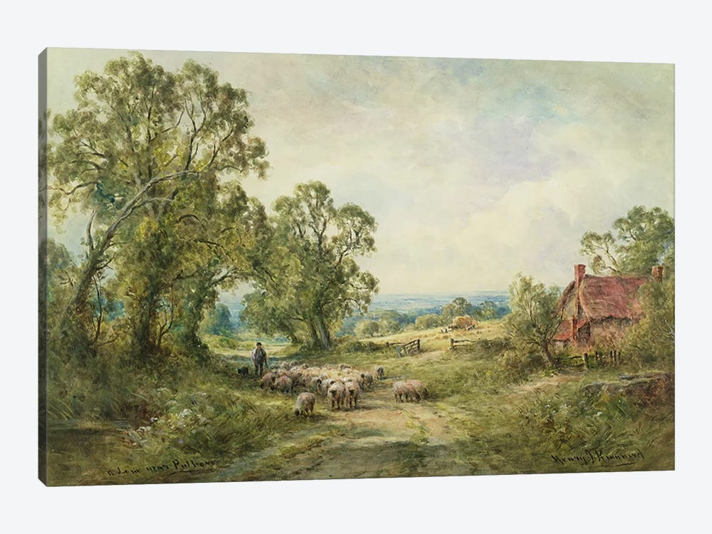 A Lane Near Pulborough  by Henry John Kinnaird 1-piece Canvas Artwork