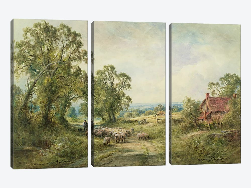 A Lane Near Pulborough  by Henry John Kinnaird 3-piece Canvas Artwork