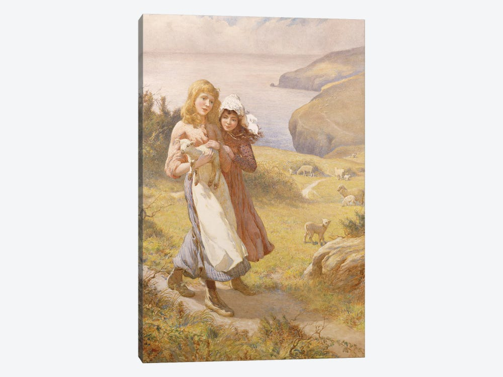 The Lost Lamb  by Joseph Kirkpatrick 1-piece Canvas Art Print