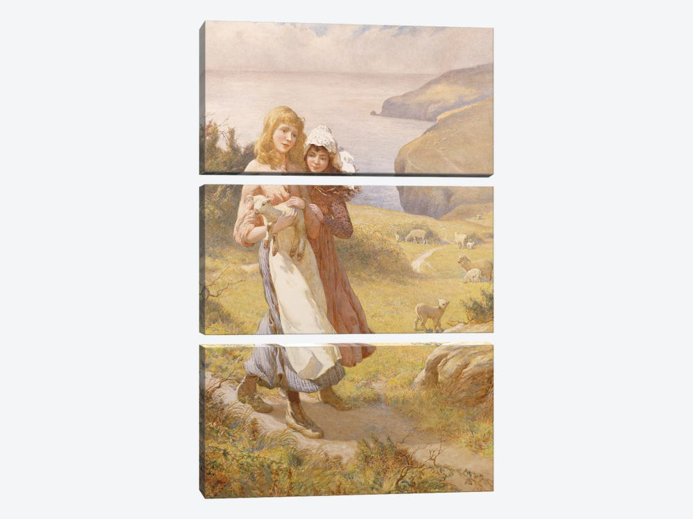 The Lost Lamb  by Joseph Kirkpatrick 3-piece Canvas Art Print