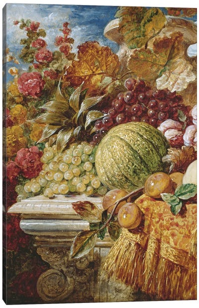 Still life with fruit  Canvas Art Print