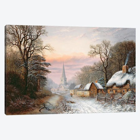 Winter landscape, 1869  Canvas Print #BMN3697} by Charles Leaver Art Print