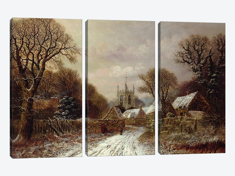 Gretton, Northamptonshire by Charles Leaver 3-piece Canvas Wall Art