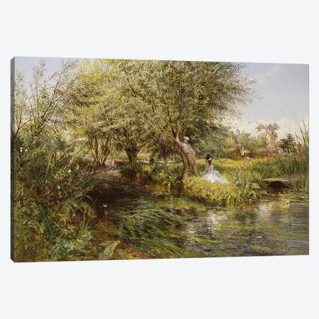 The Trysting Place  Canvas Print #BMN3699} by Charles James Lewis Canvas Artwork