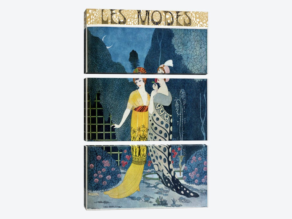 Les Modes (colour litho) by Georges Barbier 3-piece Art Print