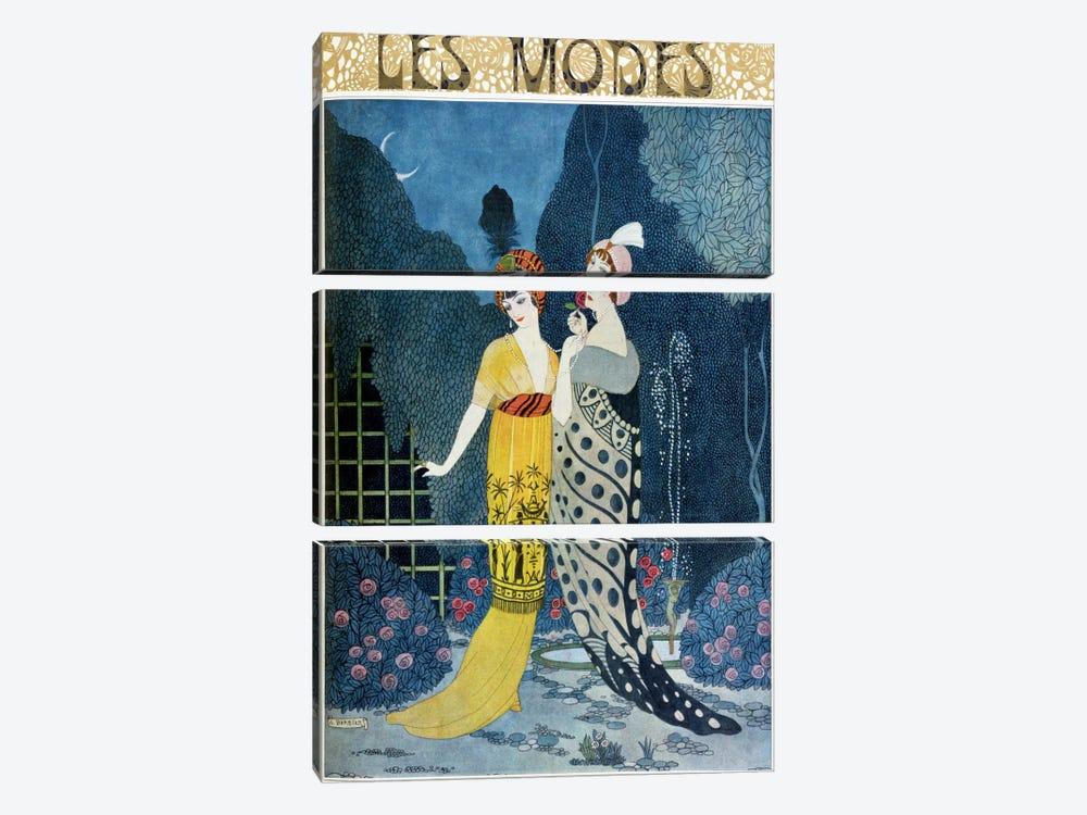 Les Modes (colour litho) by George Barbier 3-piece Art Print