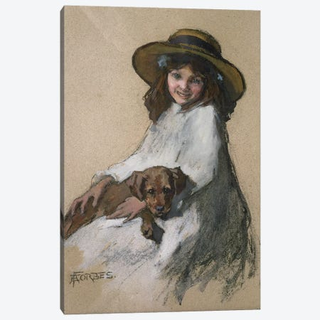 Friends Canvas Print #BMN3702} by Elizabeth Adela Stanhope Forbes Canvas Artwork