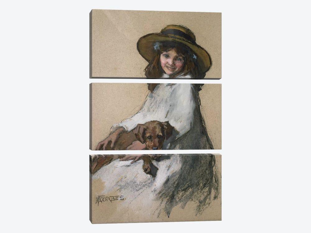 Friends by Elizabeth Adela Stanhope Forbes 3-piece Canvas Wall Art