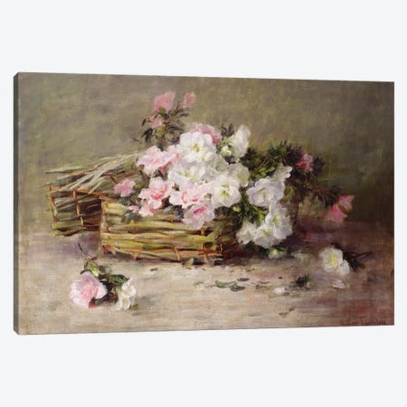 A Basket of Flowers  Canvas Print #BMN3704} by Margaret von Frankenberg Canvas Art Print