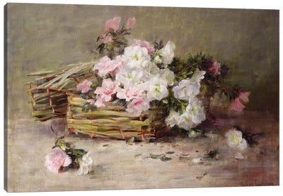 A Basket of Flowers  Canvas Art Print