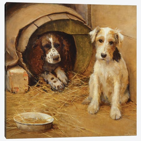 In the Dog House  Canvas Print #BMN3706} by Samuel Fulton Canvas Art Print