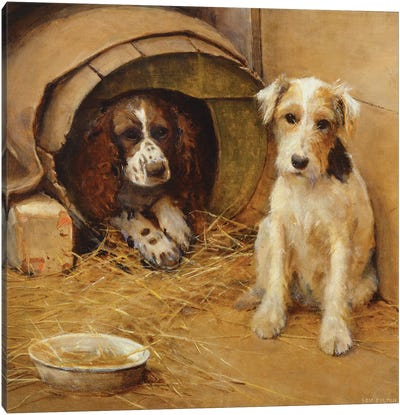 In the Dog House  Canvas Art Print