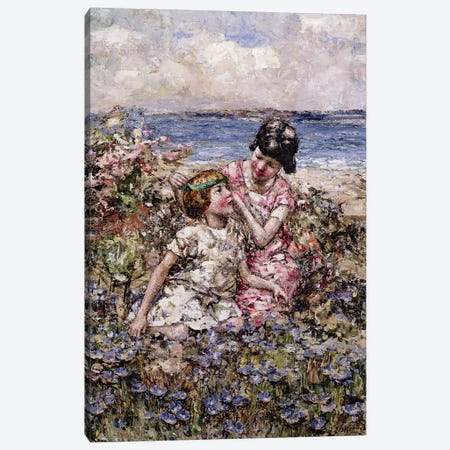 The May Queen  Canvas Print #BMN3707} by Edward Atkinson Hornel Art Print