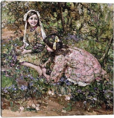 Mid Fairy Flax  Canvas Art Print