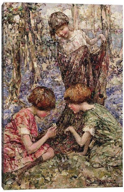 The Primrose Gatherers  Canvas Art Print