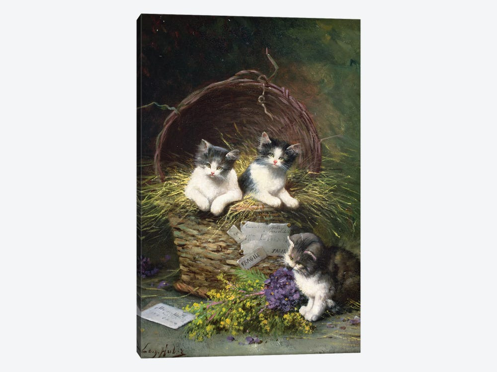 Playtime  by Leon-Charles Huber 1-piece Canvas Art