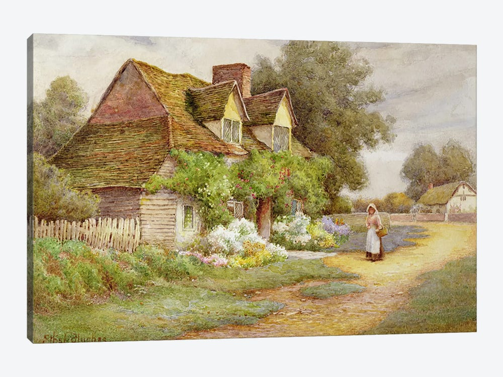 Outside the Cottage by Ethel Hughes 1-piece Art Print