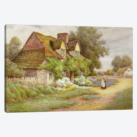 Outside the Cottage  Canvas Print #BMN3714} by Ethel Hughes Canvas Art