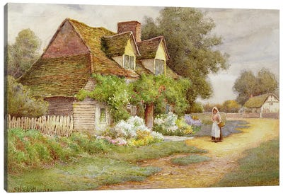 Outside the Cottage  Canvas Art Print