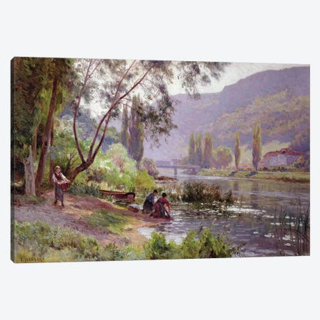 At the River's Edge  Canvas Print #BMN3715} by Emile Isenbart Canvas Art