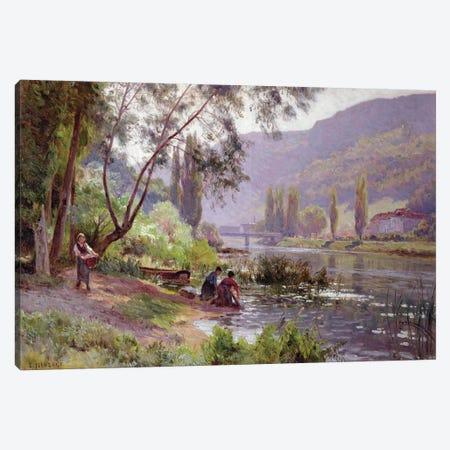 At the River's Edge  Canvas Print #BMN3715} by Emile Isenbart Canvas Art