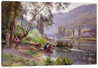 At the River's Edge  Canvas Art Print