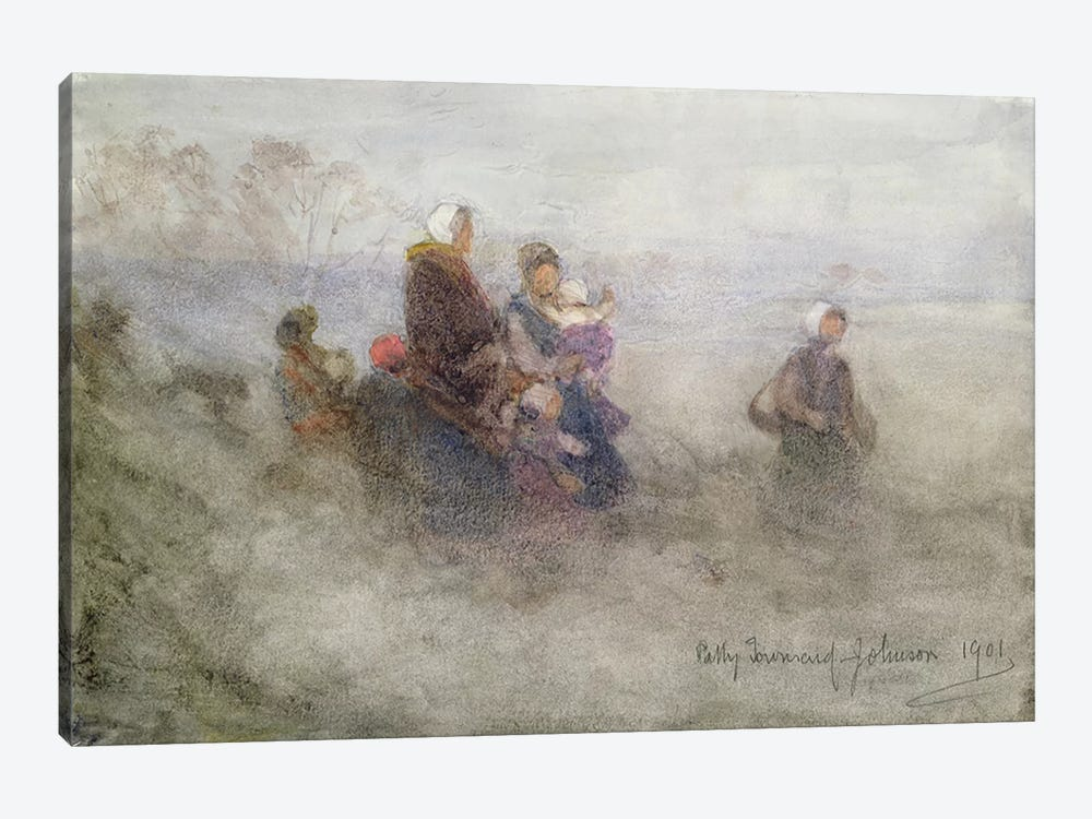 Returning Journey, 1901  by Patty Townsend Johnson 1-piece Canvas Art Print