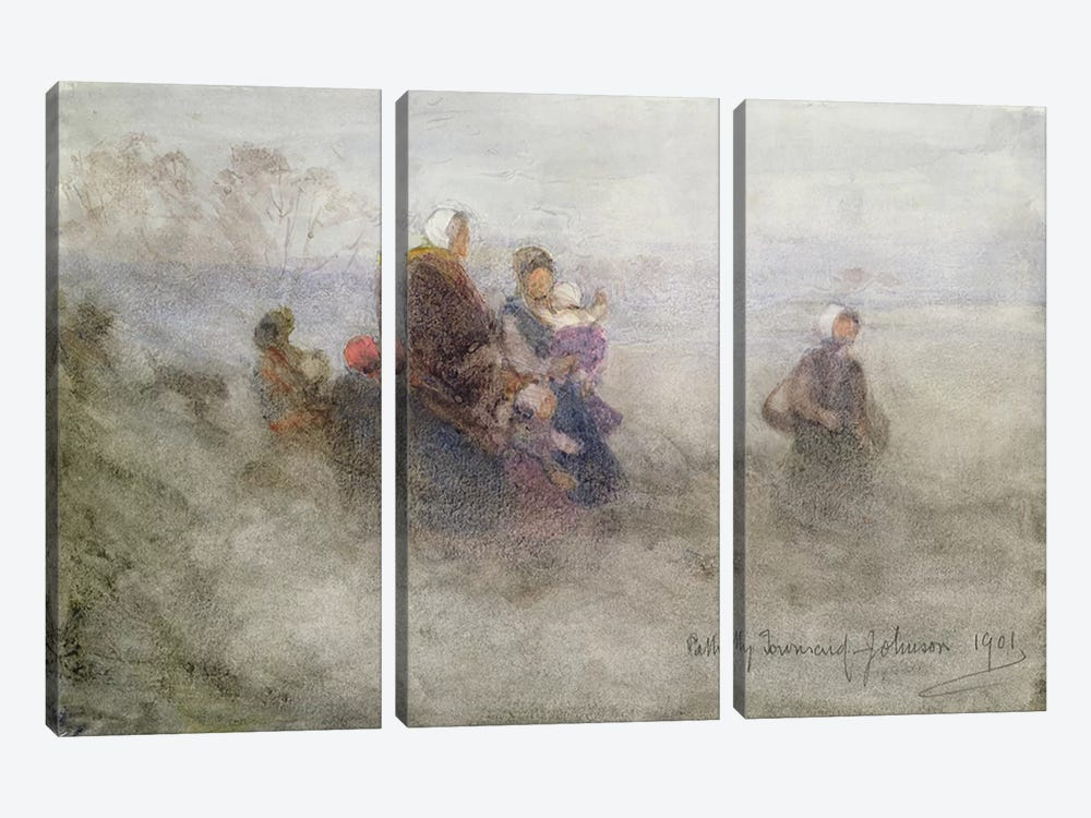 Returning Journey, 1901  by Patty Townsend Johnson 3-piece Canvas Art Print