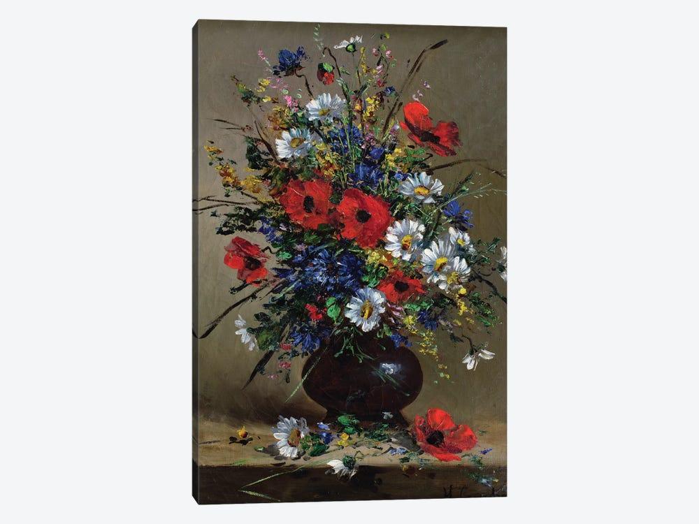 Poppies and Daisies  by Eugene Henri Cauchois 1-piece Art Print