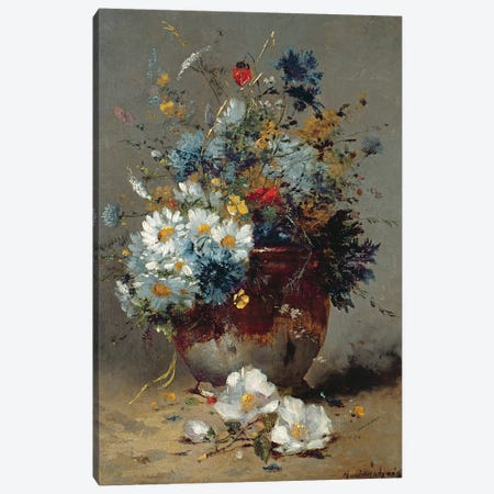 Daisies and Cornflowers  Canvas Print #BMN3723} by Eugene Henri Cauchois Canvas Wall Art