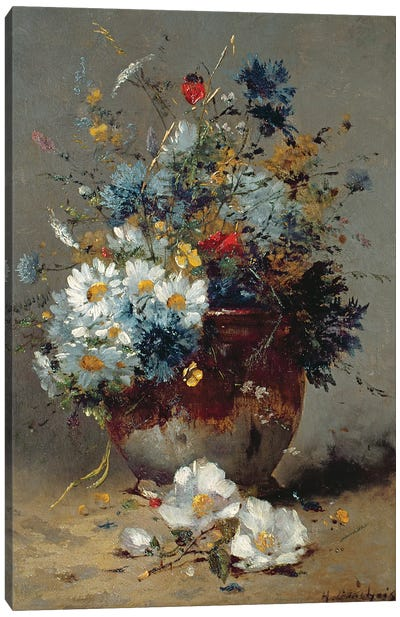 Daisies and Cornflowers  Canvas Art Print