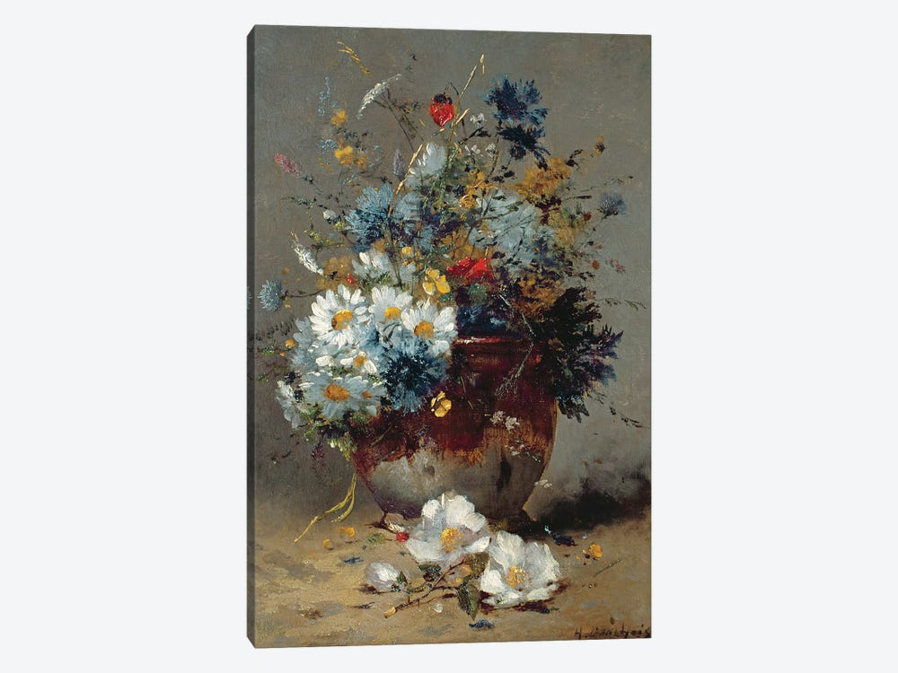 Daisies and Cornflowers  by Eugene Henri Cauchois 1-piece Art Print