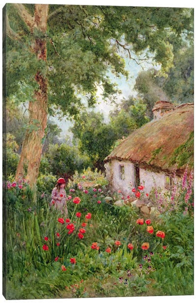 A Cottage Garden Canvas Art Print