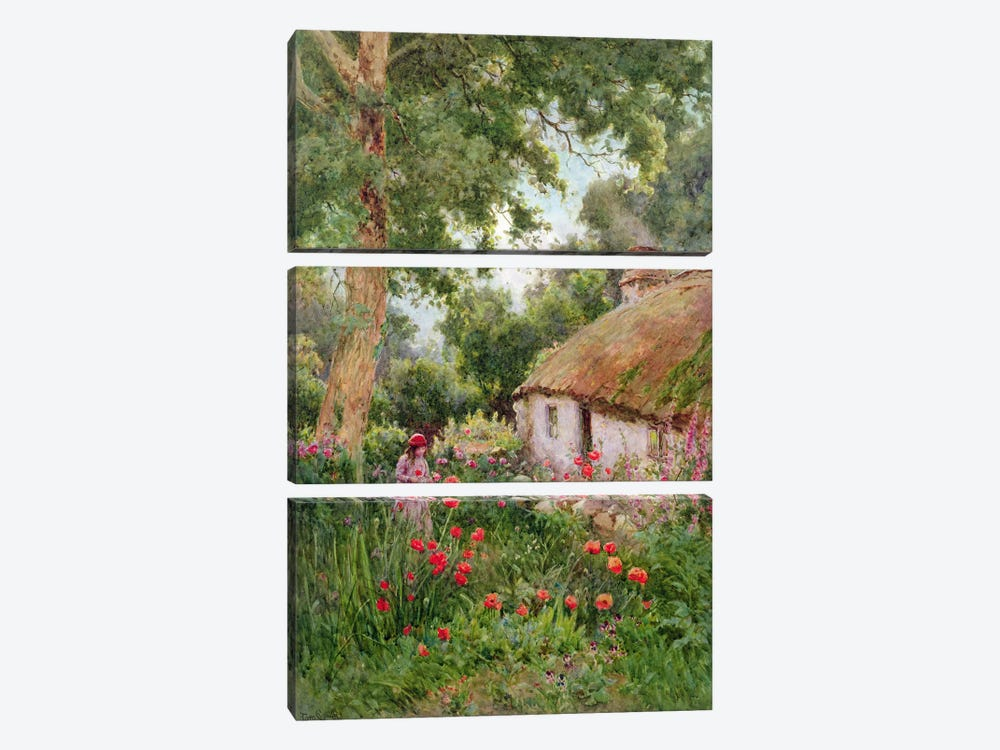 A Cottage Garden  by Tom Clough 3-piece Canvas Art