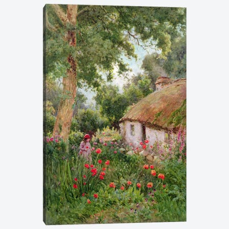 A Cottage Garden  Canvas Print #BMN3726} by Tom Clough Canvas Art Print