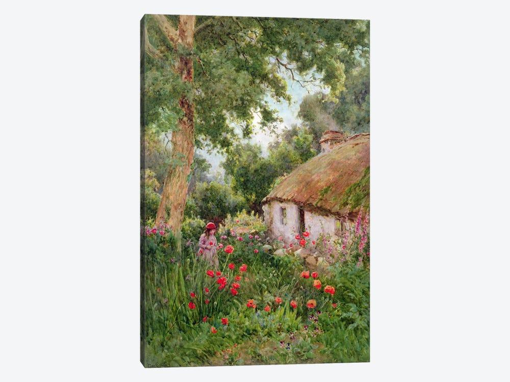 A Cottage Garden  by Tom Clough 1-piece Canvas Art