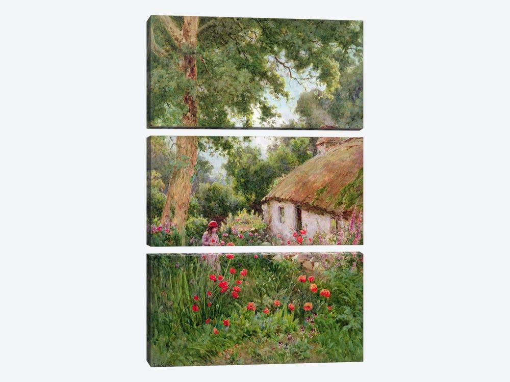A Cottage Garden  by Tom Clough 3-piece Canvas Art