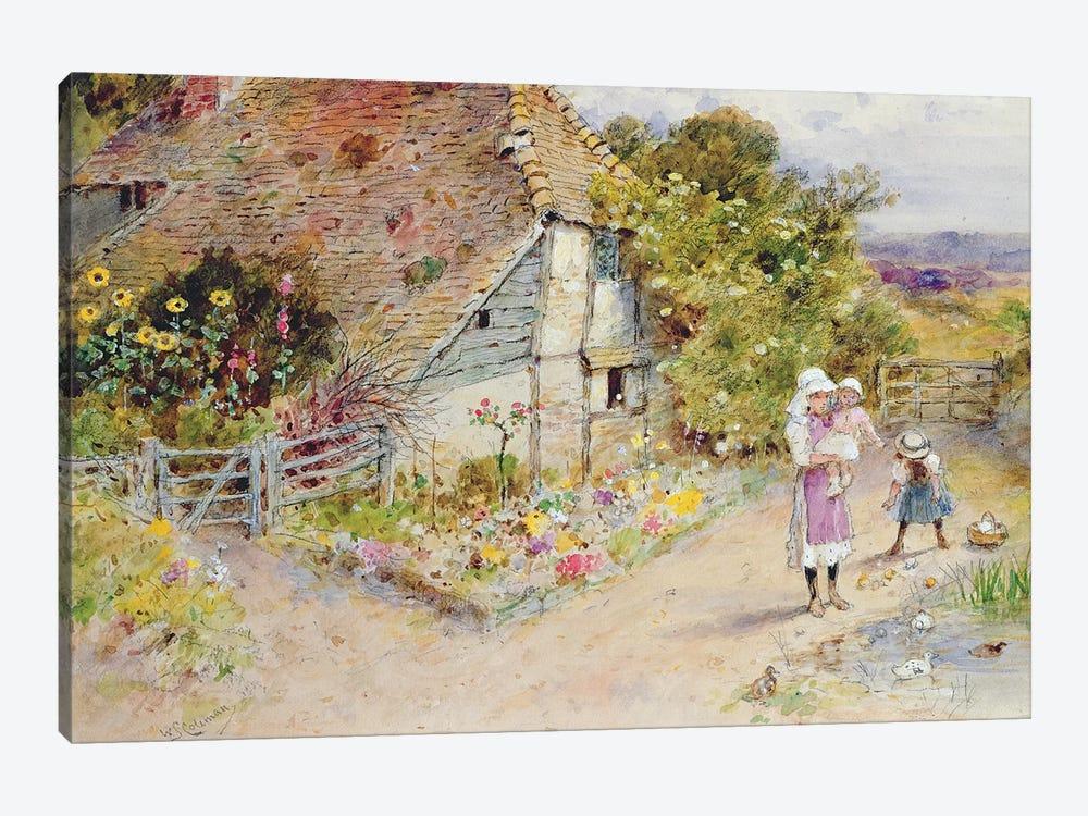 Watching the Ducks  by William Stephen Coleman 1-piece Canvas Art