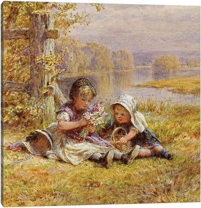 A Posy for Mother, 1867  Canvas Art Print