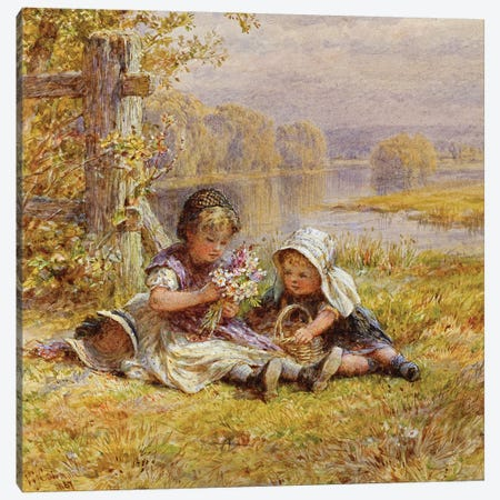 A Posy for Mother, 1867  Canvas Print #BMN3732} by William Stephen Coleman Canvas Print