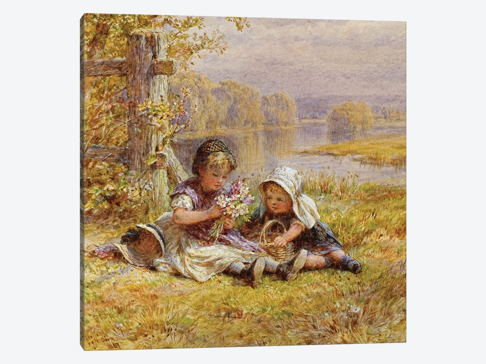 A Posy for Mother, 1867  by William Stephen Coleman 1-piece Canvas Art Print