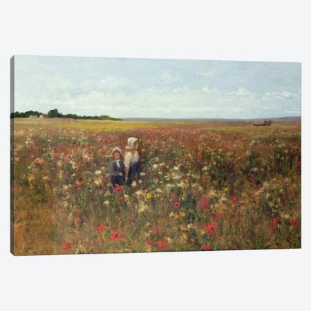 The Poppyfield, 1897  Canvas Print #BMN3734} by Kate Colls Canvas Wall Art
