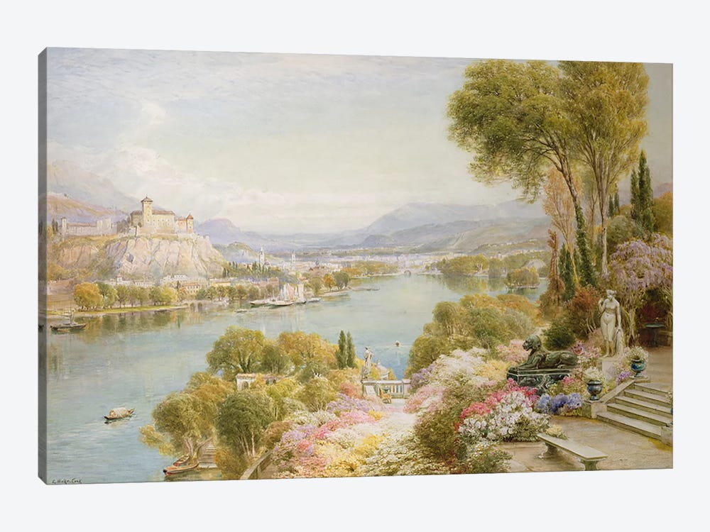 Lake Maggiore  by Ebenezer Wake-Cook 1-piece Canvas Wall Art